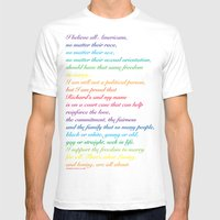 Project: June 12 A quote by Mildred Loving Mens Fitted Tee White SMALL