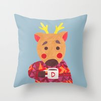 Winter Season is Coming (Deer Edition) Throw Pillow