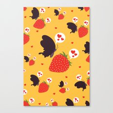 the death loves the strawberry Canvas Print