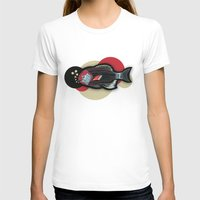 Happy New Fish  Womens Fitted Tee White SMALL