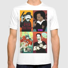 Pop mix of the some of the greats pop culture memories.  Mens Fitted Tee SMALL White