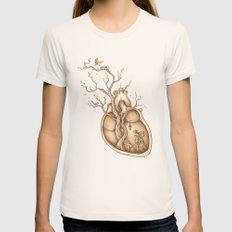 Tree Of Life Womens Fitted Tee Natural SMALL