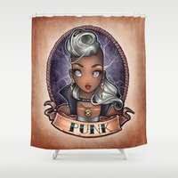 PUNK Pinup Shower Curtain