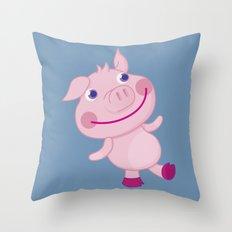 Pigg'o Throw Pillow