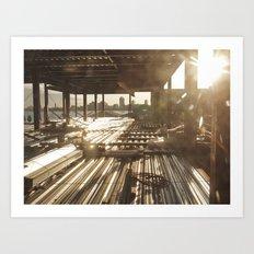 Under Construction.. Art Print