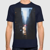The Narrows Mens Fitted Tee Navy SMALL