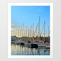 Harbor: Barcelona, Spain Art Print