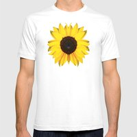 colored summer ~ sunflower black Mens Fitted Tee White SMALL