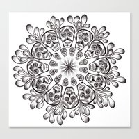 Sugar Skull Mandala Canvas Print