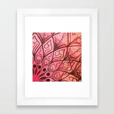 Red, Orange Framed Art Print