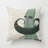 Tar mustache Throw Pillow
