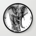 Ornate Elephant v.2 Wall Clock
