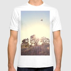 A Hawks View SMALL White Mens Fitted Tee