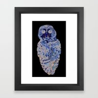 Northern Spotted Owl. Framed Art Print