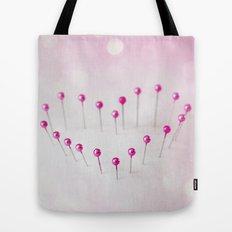 Pin Heart Tote Bag