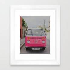 Hot Pink Lady Framed Art Print