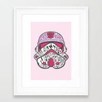 En Rose Framed Art Print
