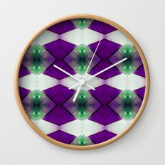 Purple Diamonds Wall Clock