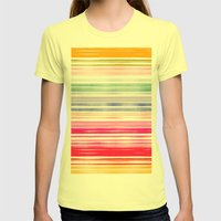 Waves 1 Womens Fitted Tee Lemon SMALL
