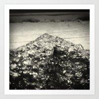 Pyrite Mountain Art Print