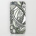 Zentangle Flowering iPhone & iPod Case