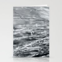Fire Grass in Black and White Stationery Cards