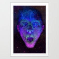 SpaceFace Art Print