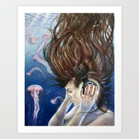 Deep Sounds Art Print