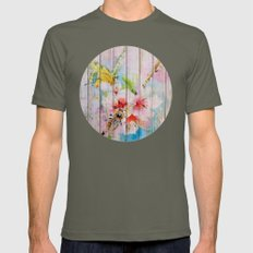 Spring On Wood 01 Mens Fitted Tee Lieutenant SMALL