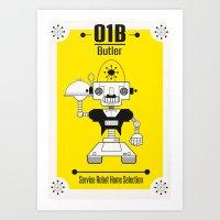 Butler01 Art Print