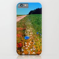 iPhone Cases featuring Summer flowers along the trail by Patrick Jobst