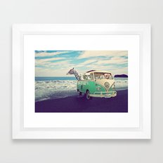 NEVER STOP EXPLORING THE… Framed Art Print