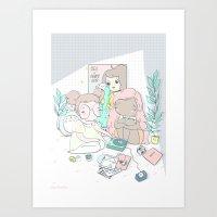 EMO GIRLS Art Print