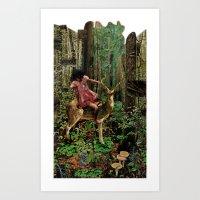 Deerlove | Collage Art Print