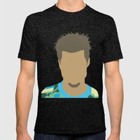 Tyler Durden Fight Club Mens Fitted Tee Tri-Black SMALL
