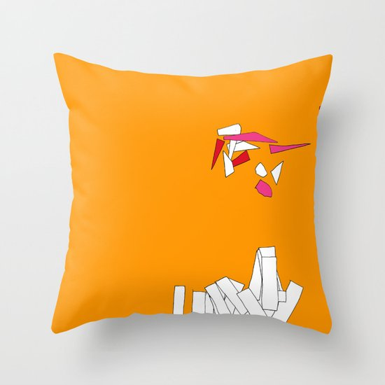 Fragmentation 1 Throw Pillow