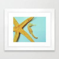 My little bit of ocean Framed Art Print