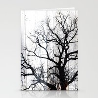 Tree Silhouette on Wood Stationery Cards