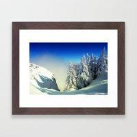 Frozen Top Framed Art Print