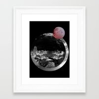 Framed Art Print featuring Echo the sun by Katty Bouthier