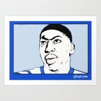Anthony Davis Nike Swoos… Art Print