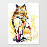 Fox Flow Canvas Print