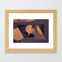 triangles / photography Framed Art Print