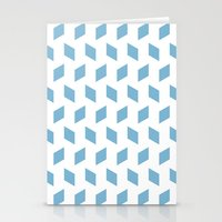 rhombus bomb in dusk blue Stationery Cards