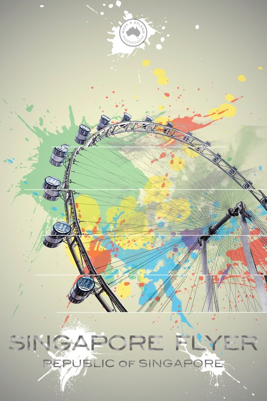 Singapore Flyer Abstract Art Print