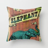 My Favorite Elephant Throw Pillow