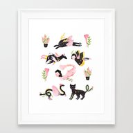 Distant Cousins Framed Art Print