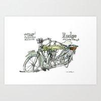 RUDGE, 1911 Motorcycle, … Art Print