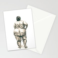 Woman in Shower Stationery Cards