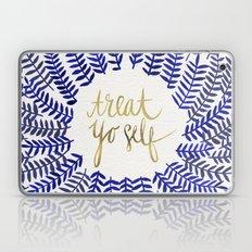 Treat Yo Self – Gold & Navy Laptop & iPad Skin